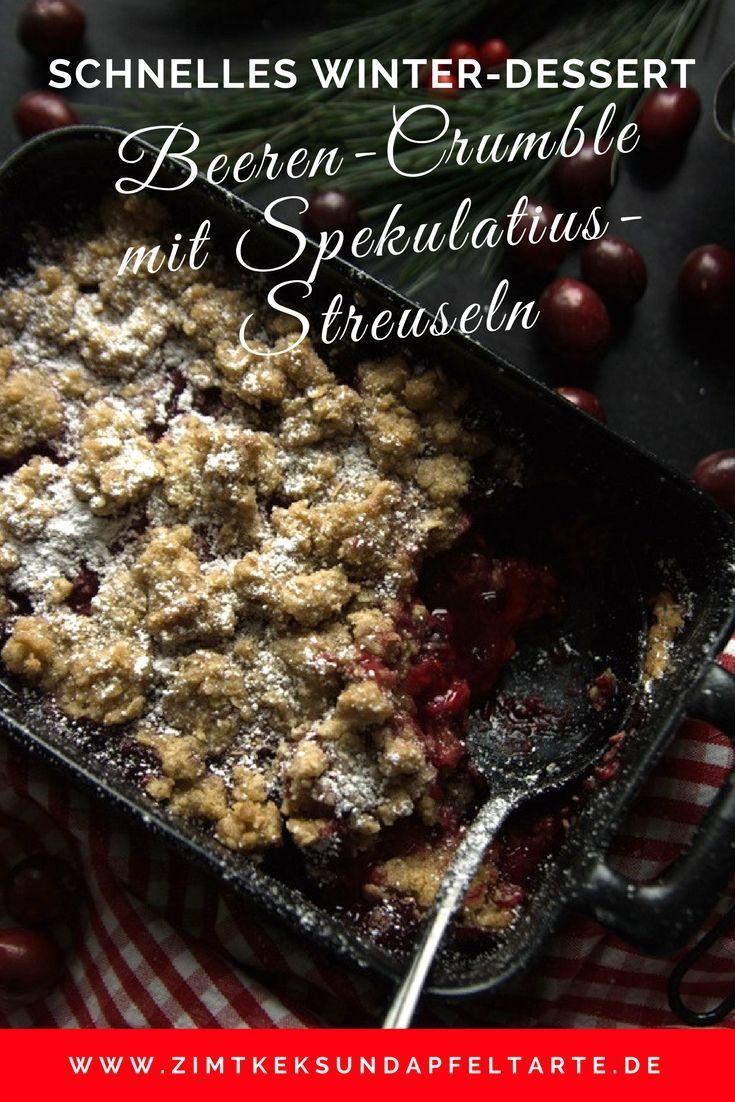 Blitzschnelle: Christmas-Beeren-Crumble mit Spekulatius-Streuseln