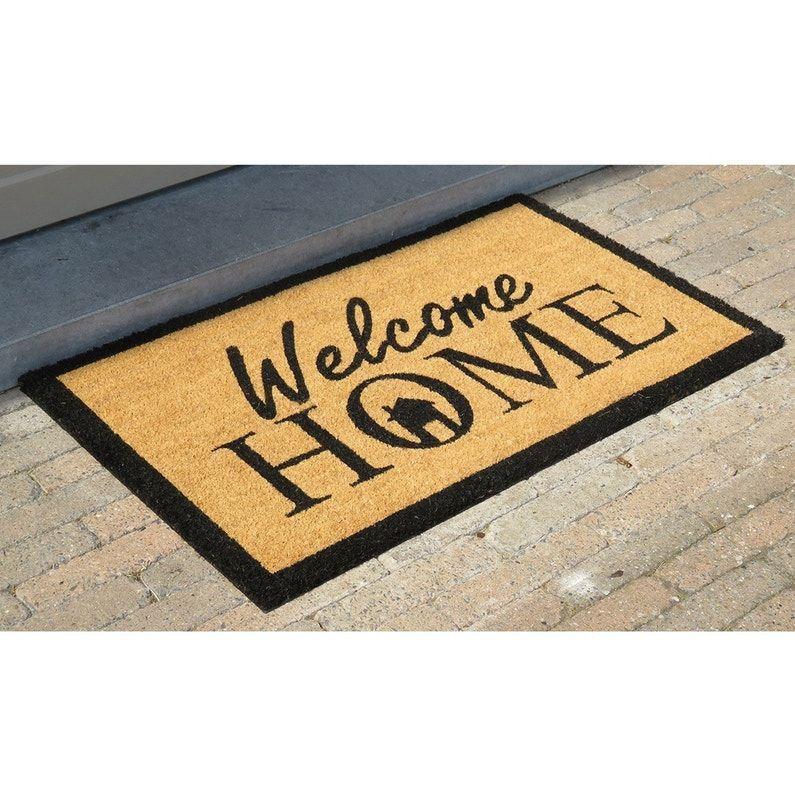 Paillasson Coco Beige L 45 Cm X L 75 Cm X Ep Mm Welcome Home Paillasson Paillassons Tapis