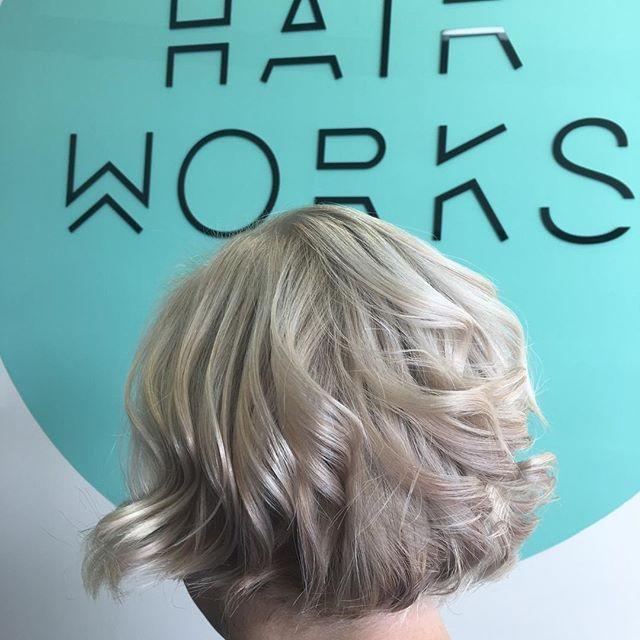 Platinum Tones On A Short Style Hairworkstudiowarragul Hairworkswarragul Hairworks Hairworksstudiowarragul Hair Long Hair Styles Spray Tanning