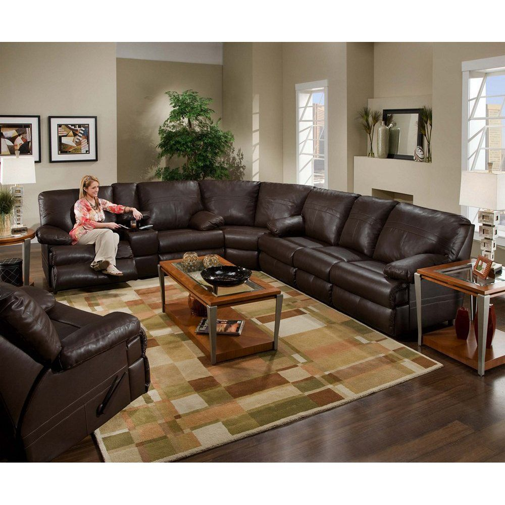 Simmons Charleston Leather Sectional