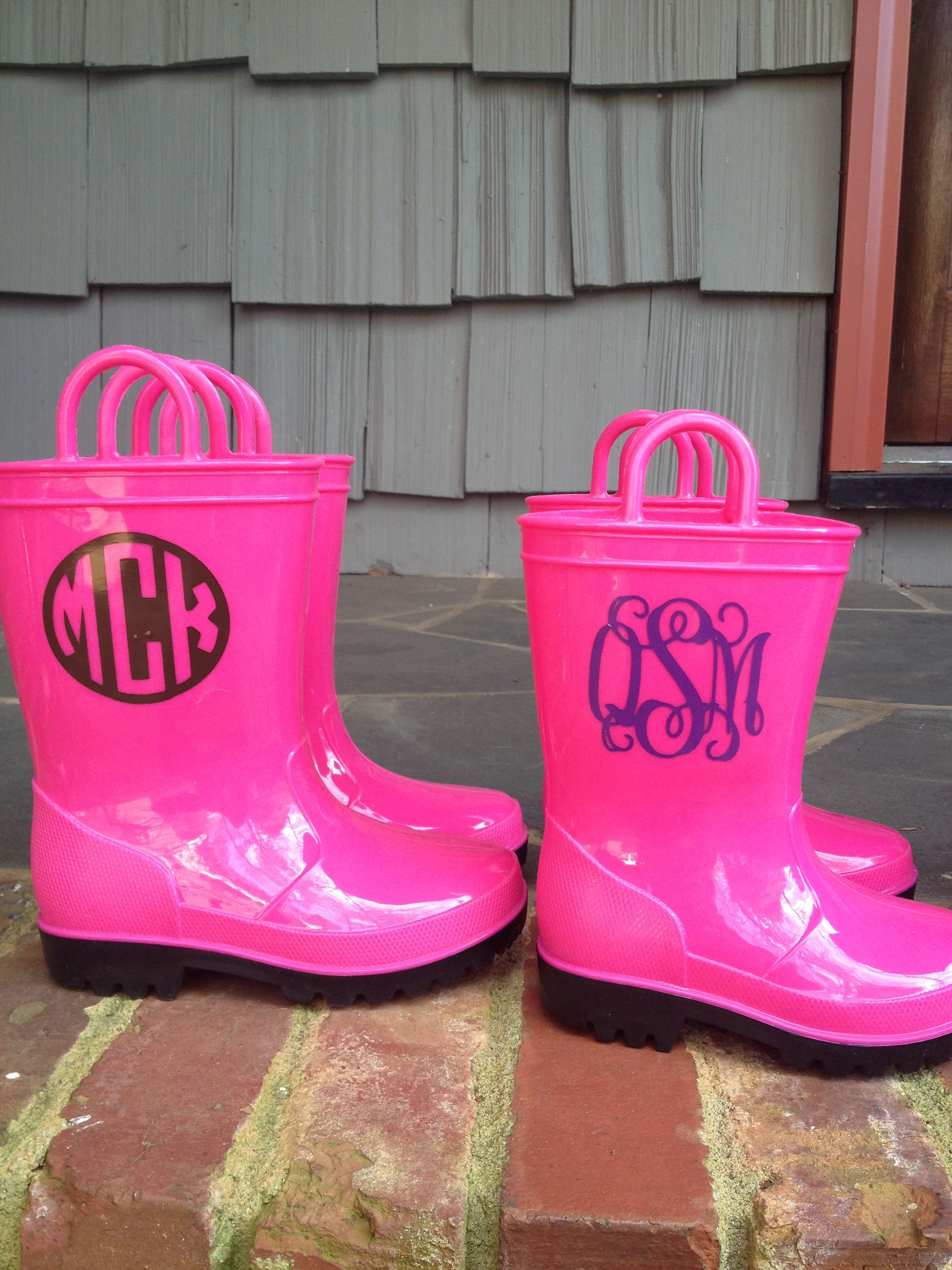 Adorable monogrammed rain boots! $28 toddler sizes 6-12 and girls ...