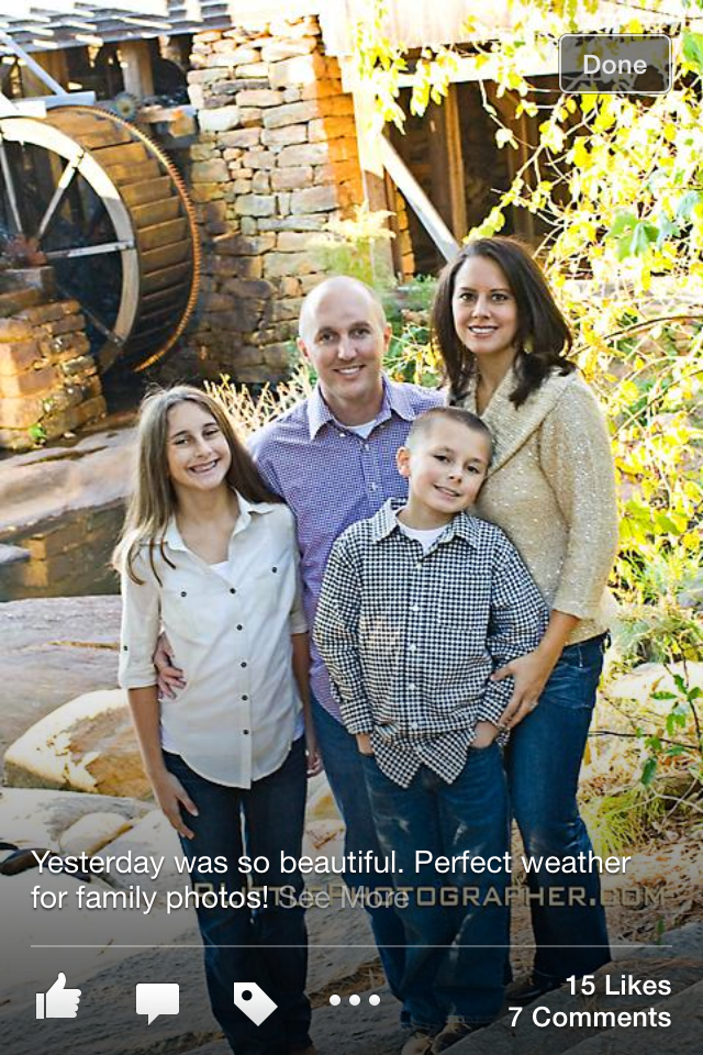 Fall family photo@ Yates Mills Pond, NC