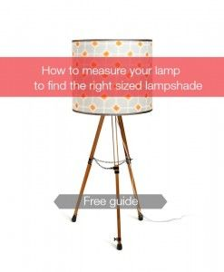 How To Measure Lamp Shade Simple Lampshade Measuring Guide 2 And Kits  Diy  Pinterest  Diy Inspiration