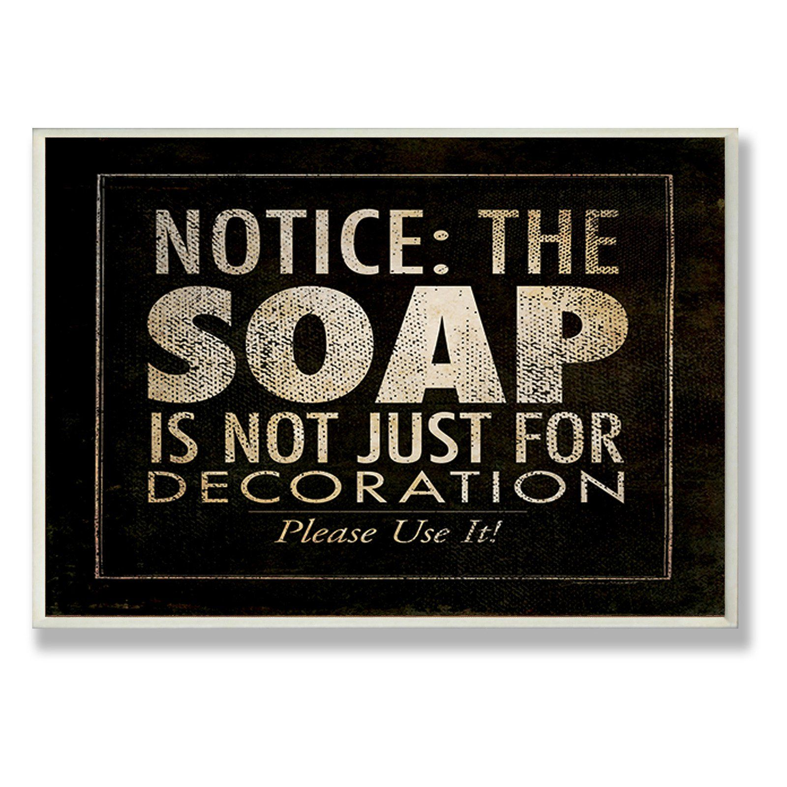 Soap Black Bathroom Wall Plaque