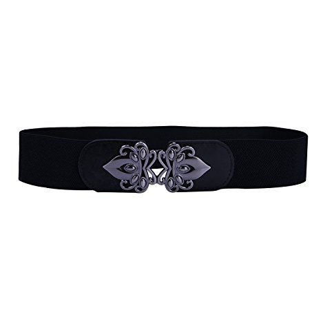 HDE Womens Cinch Belt Elastic Stretch Fashion Waist Band W//Clasp Buckle XS-5X