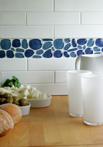 Subway Tile Kitchen Splashback With