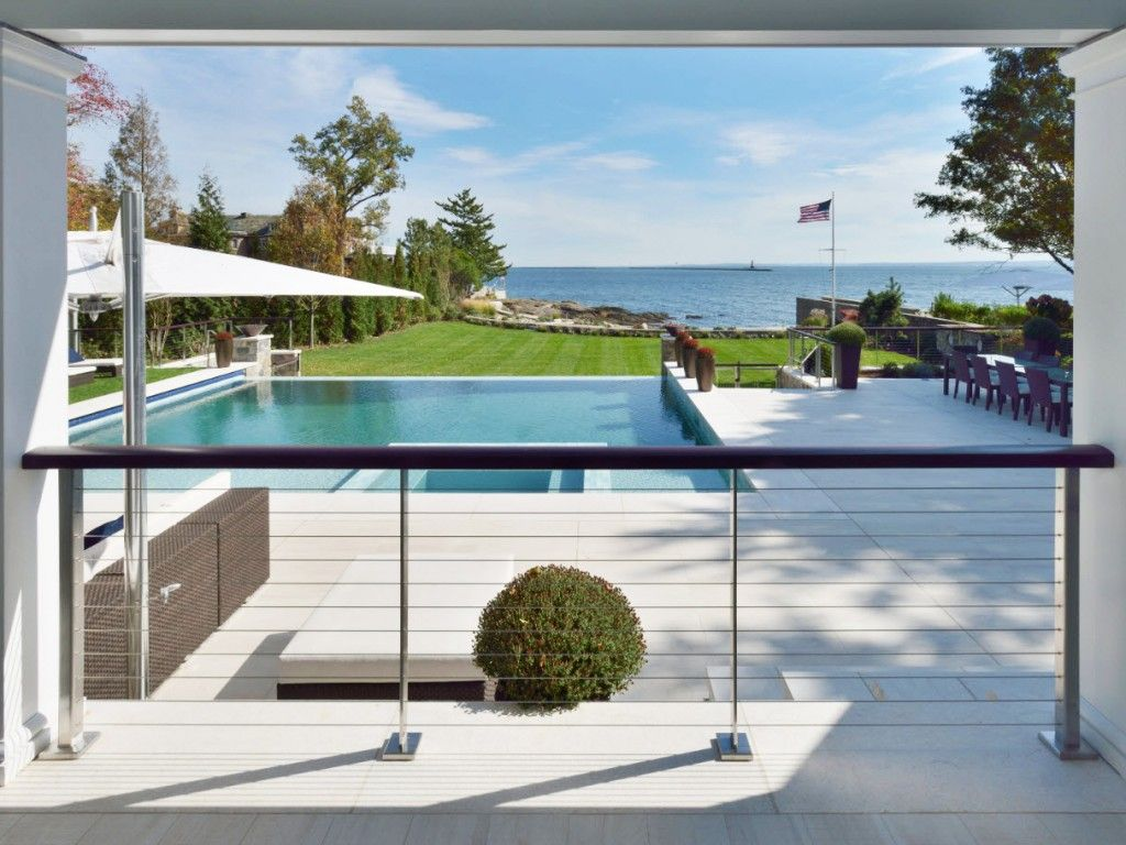 Stainless Steel Railing Posts And Cover Plates Railings Outdoor Pool Fence Cable Railing