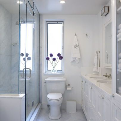Window Above Toilet Narrow Bathroom Designs Small Bathroom