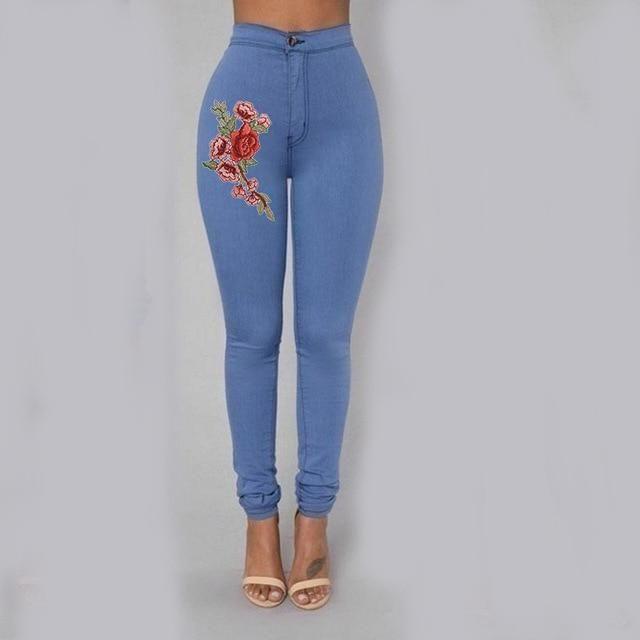 2019 Solid Wash Skinny Jeans Woman High Waist NEW Denim Pants Plus Size Push Up Trousers 2018 warm Pencil Pants Female ** - YELLOW XXL 1