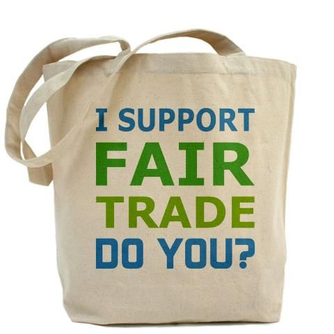 63d6c2f6f996 I Support Fair Trade - Do You? Tote Bag. | Fair Trade Community Shop ...
