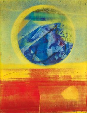 Max Ernst, 'Hochzeit Von Himmel und Erde - Variation in Blau und Rot', 1962