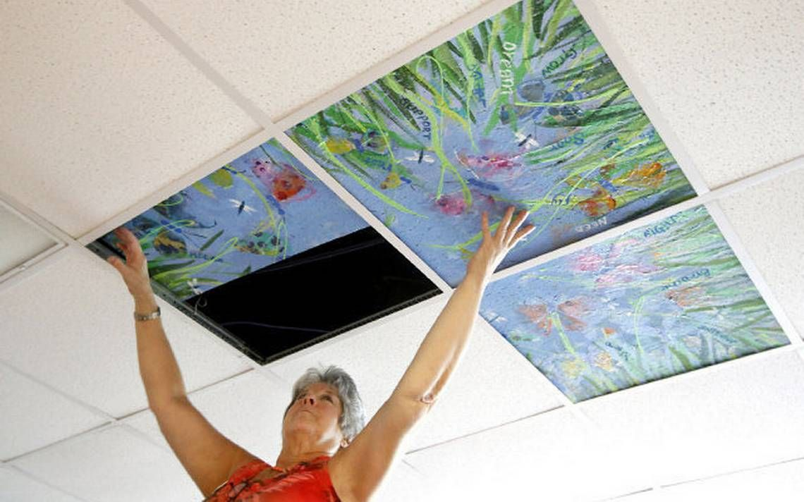 Ceiling art project gives Triangle cancer patients a reason to look up