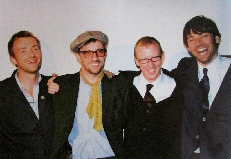 The band reunited at Alex's wedding, 2003.