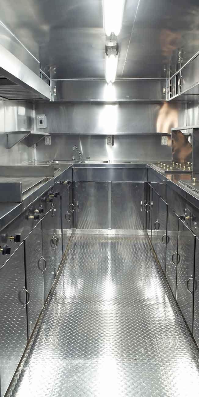 Vista interior de remolque para preparar comida de 2.20 x 4 metros ...