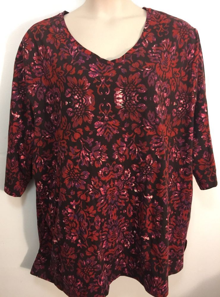 CATHERINES PRINTED TUNIC TOP - PLUS SIZE 3X (26/28W) #Catherines #Tunic