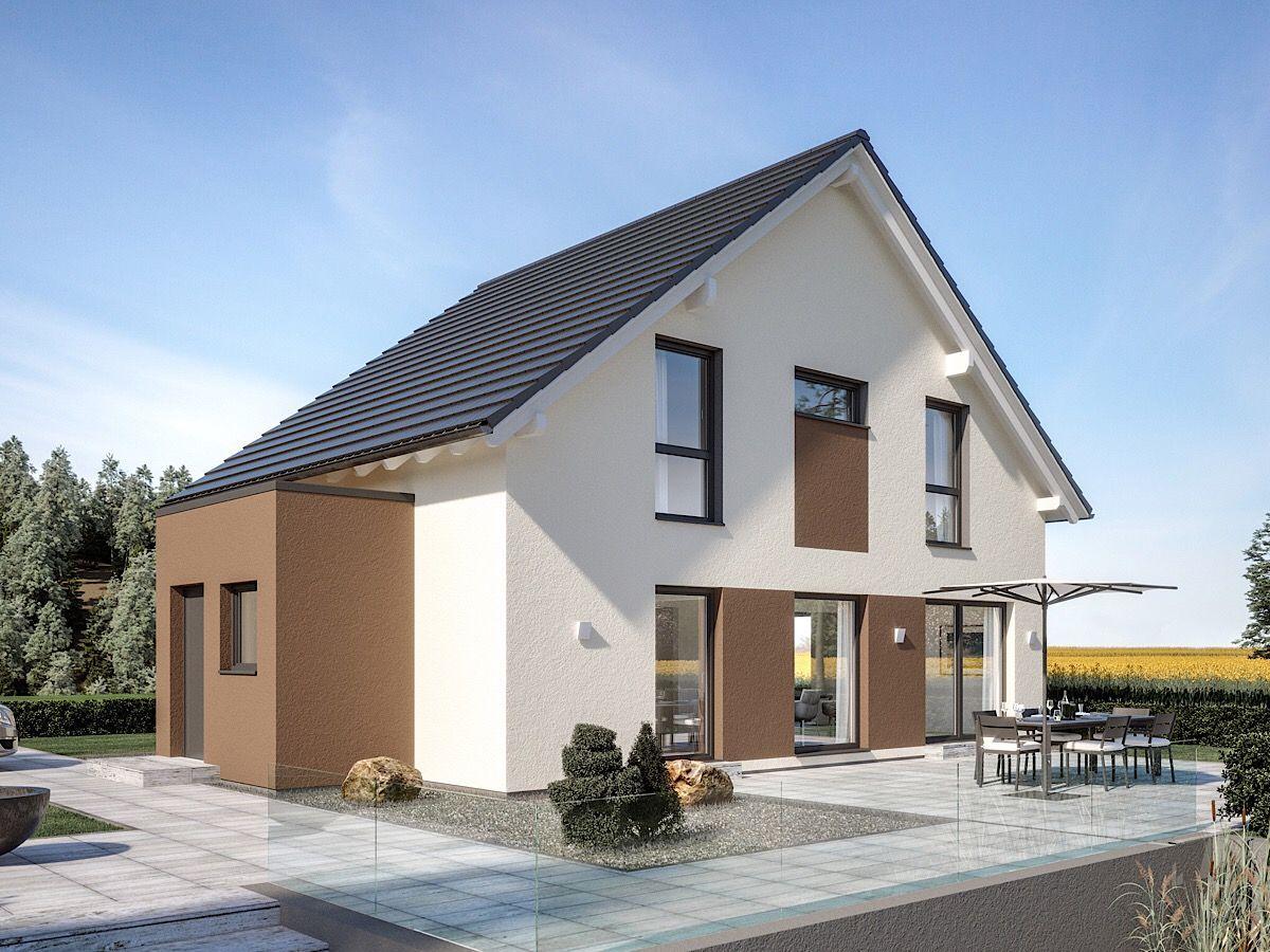 Modernes Einfamilienhaus klassisch mit Satteldach