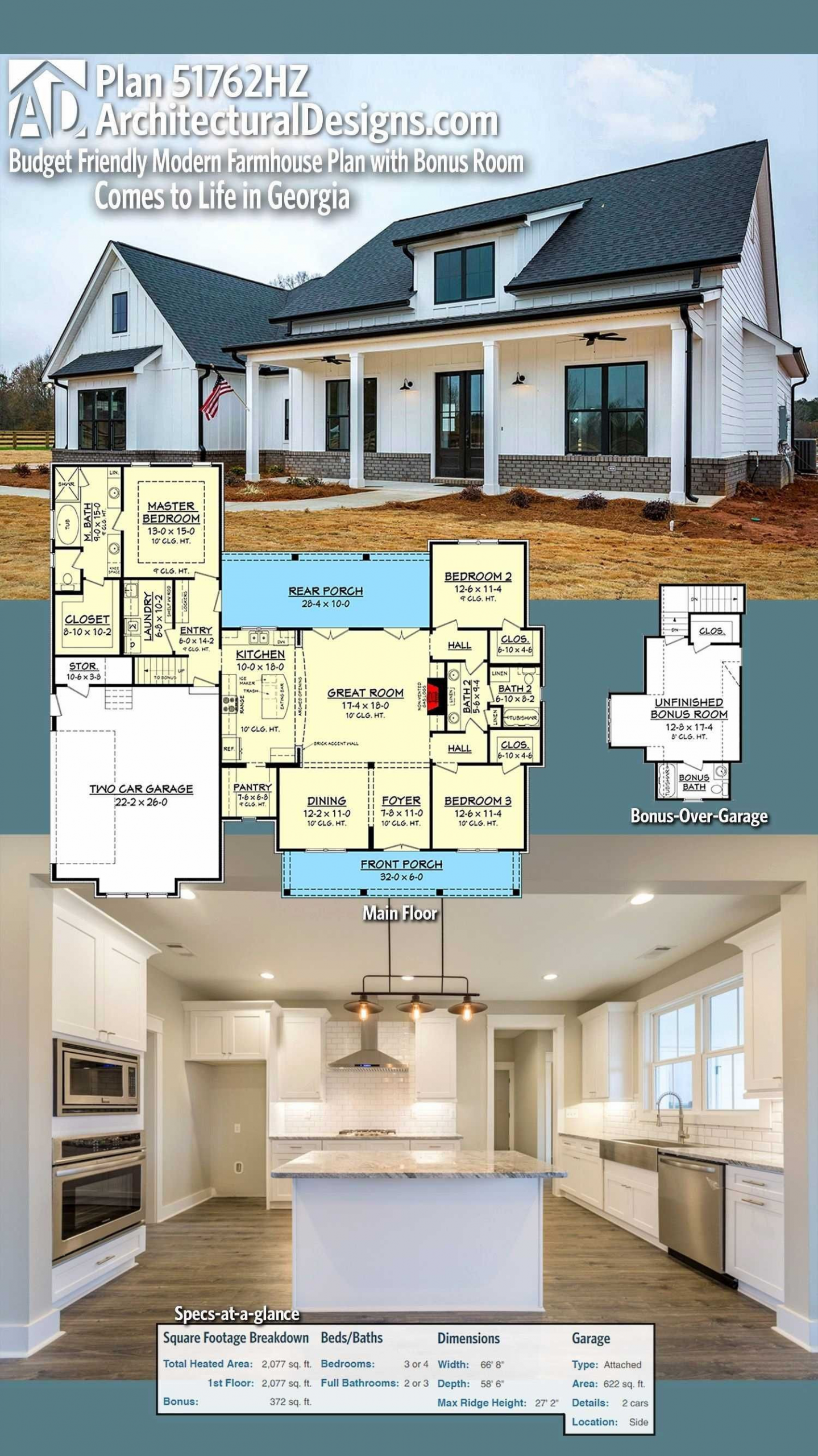Farmhouse Style House Plans Open Floor One Story Awesome Open Concept Single Story Farm In 2020 Modern Farmhouse Floorplan Modern Farmhouse Plans House Plans Farmhouse
