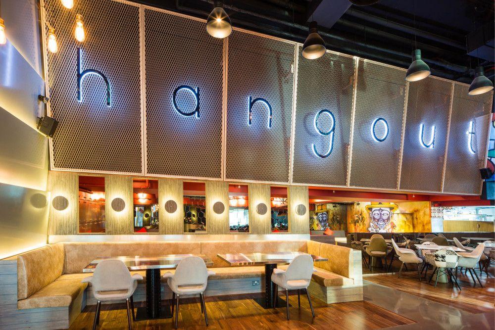 Latest project the hangout dubai interior design company studio em · restaurant