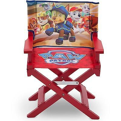 Patio Chair Director Paw Patrol Kids Folding Furniture Outdoor