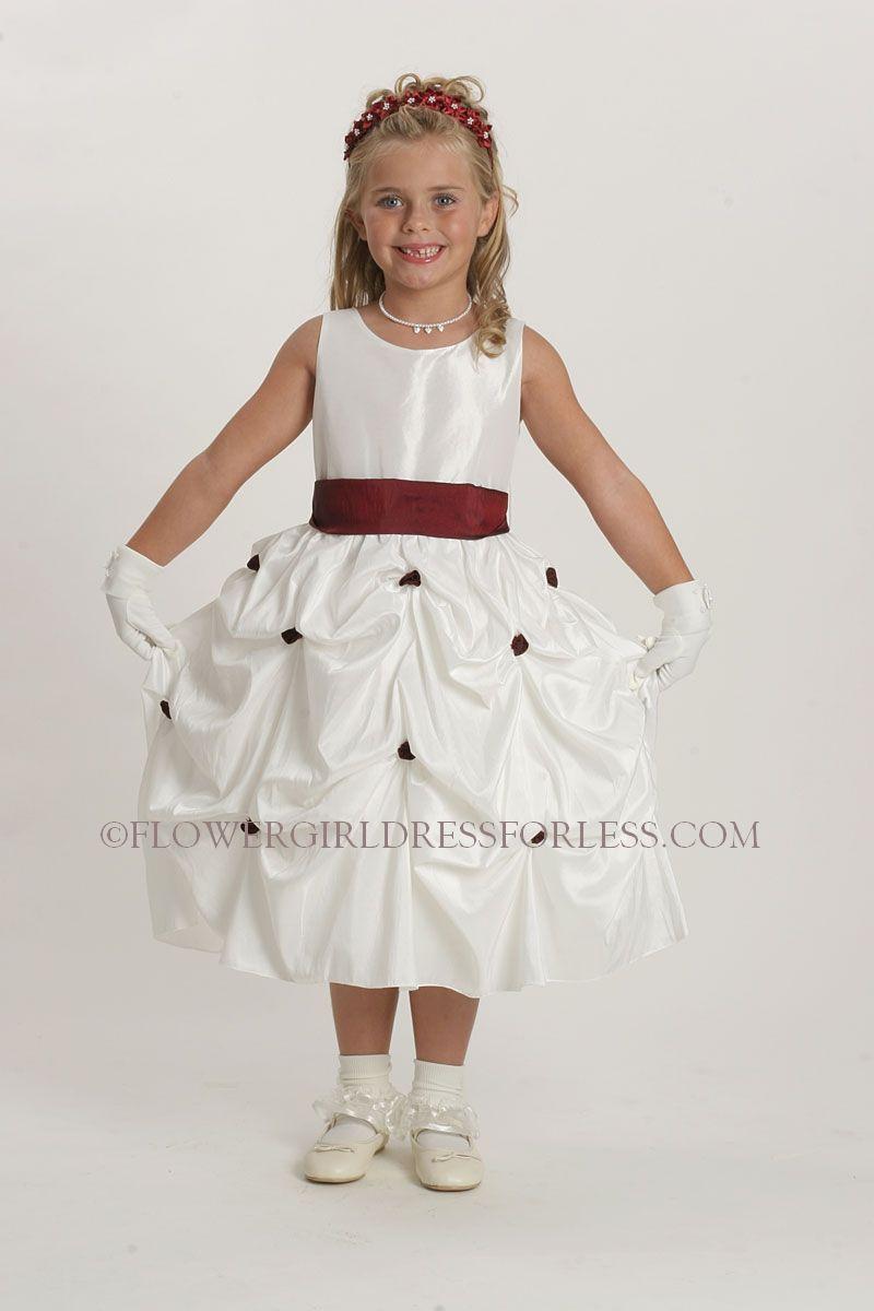 cbdcfb985be1 Flower Girl Dress Style 5374- Taffeta Pick Up Dress with Choice of ...