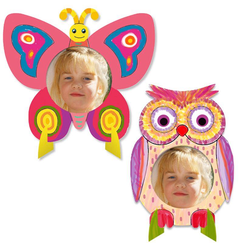 Cadres photo printemps t te modeler photo papillon for Cadre photo enfant
