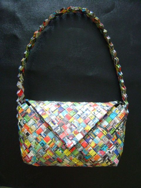 Recycled paper purse Part I - National Eco-Friendly Crafts | Examiner.com