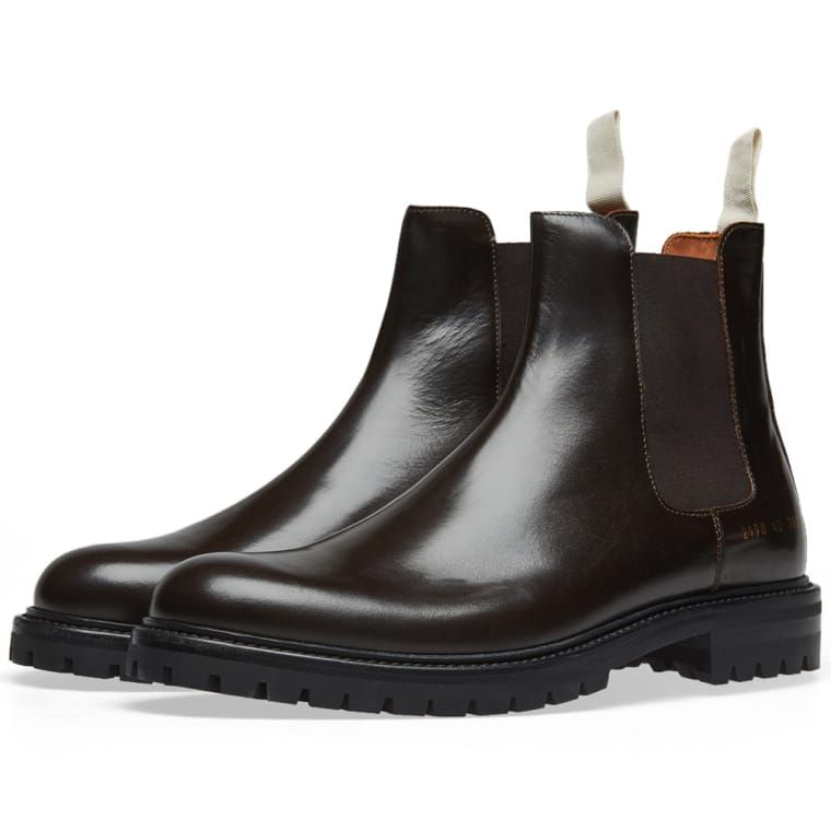 45c9012af Common Projects Chelsea Boot Lug Sole Brown 1