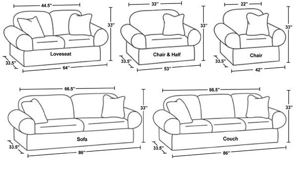 Regular Furniture Dimensions Scale Down For Doll Size Divide Inches By 6 For 2 Scale Canvas Designs Furniture Dimensions