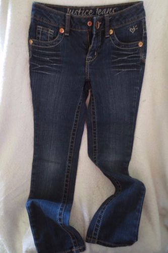 Justice-Girl-Jeggings-Stretch-Skinny-Jeans-Size-8-Slim-Dark