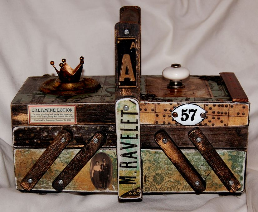 calico crafts sewingbox kaiserkraft 75 cents curio altered