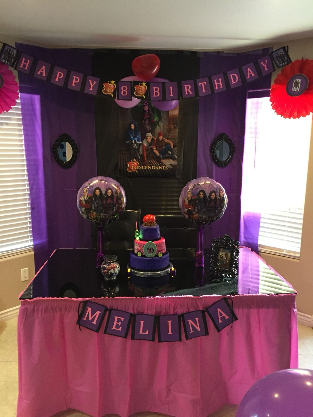 Descendants Inspired Birthday Banner Party Decor