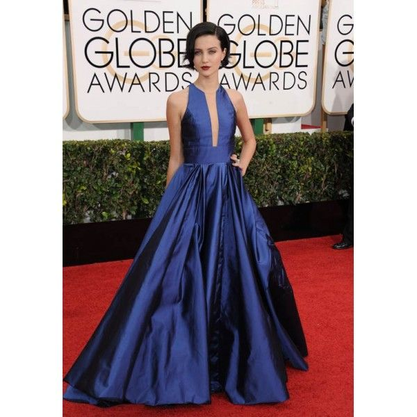 Julia Goldani Telles Royal Blue Sleeveless Formal Dress 2015 Golden Globe Awards Red Carpet