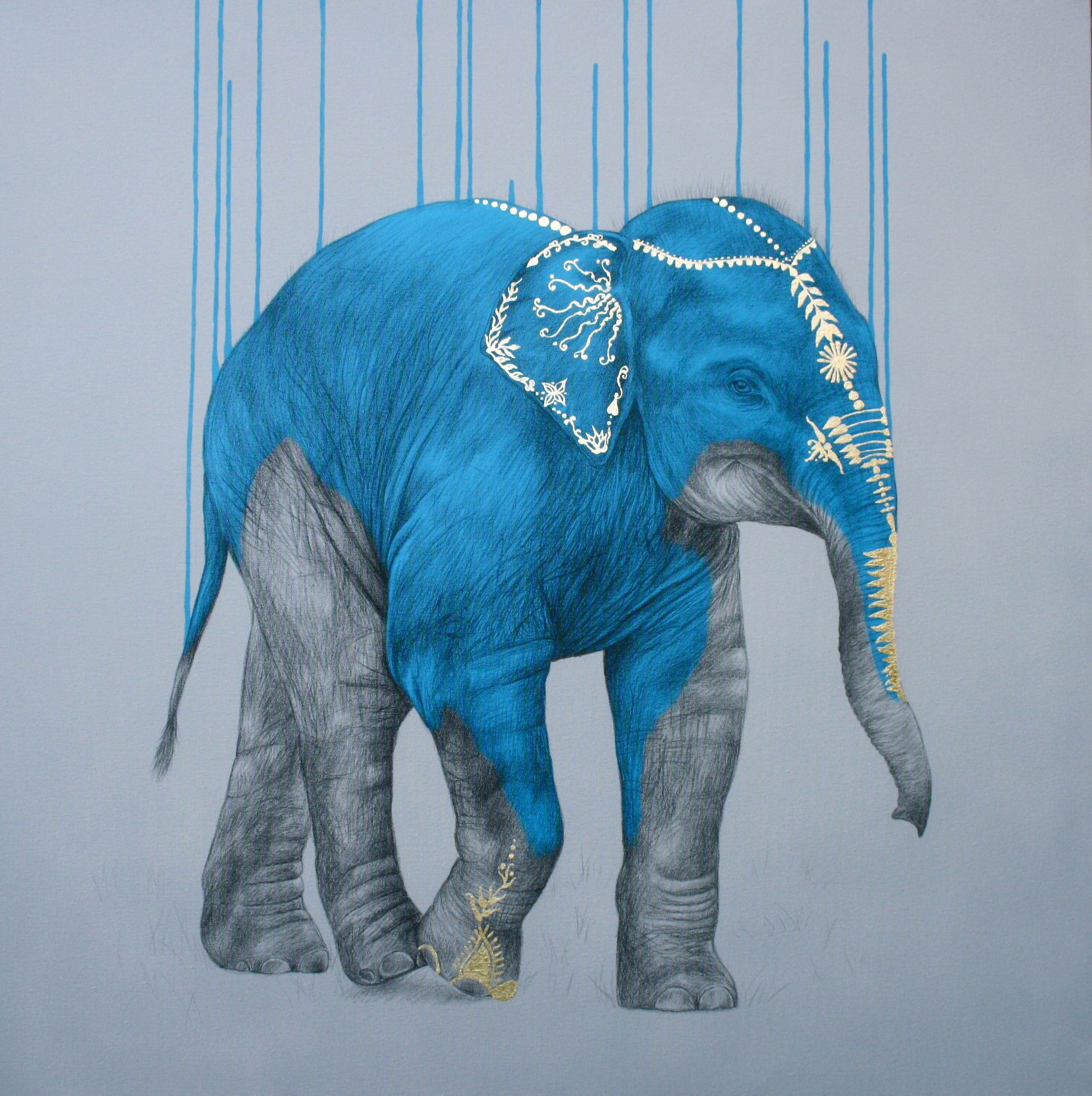 Acrylic spray paint and gold leaf on canvas 11 2015 the acrylic spray paint and gold leaf on canvas 11 2015 the elephant biocorpaavc Gallery