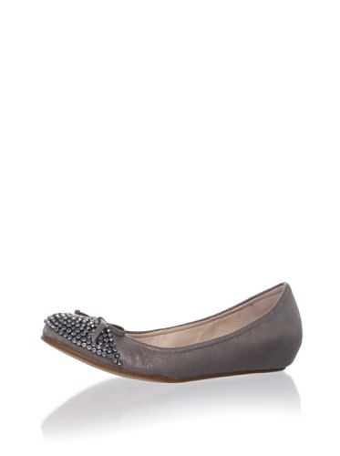 85% OFF Juicy Couture Women's Clara Rhinestone Flat (Taupe)