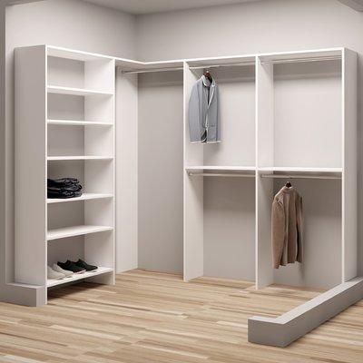 Tidysquares Inc Demure Design 93 W 73 W Closet System Closet