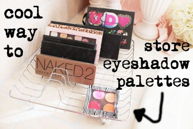 Eyeshadow & Make-Up Palettes storage - 17 Great DIY Makeup Organization and  Storage Ideas