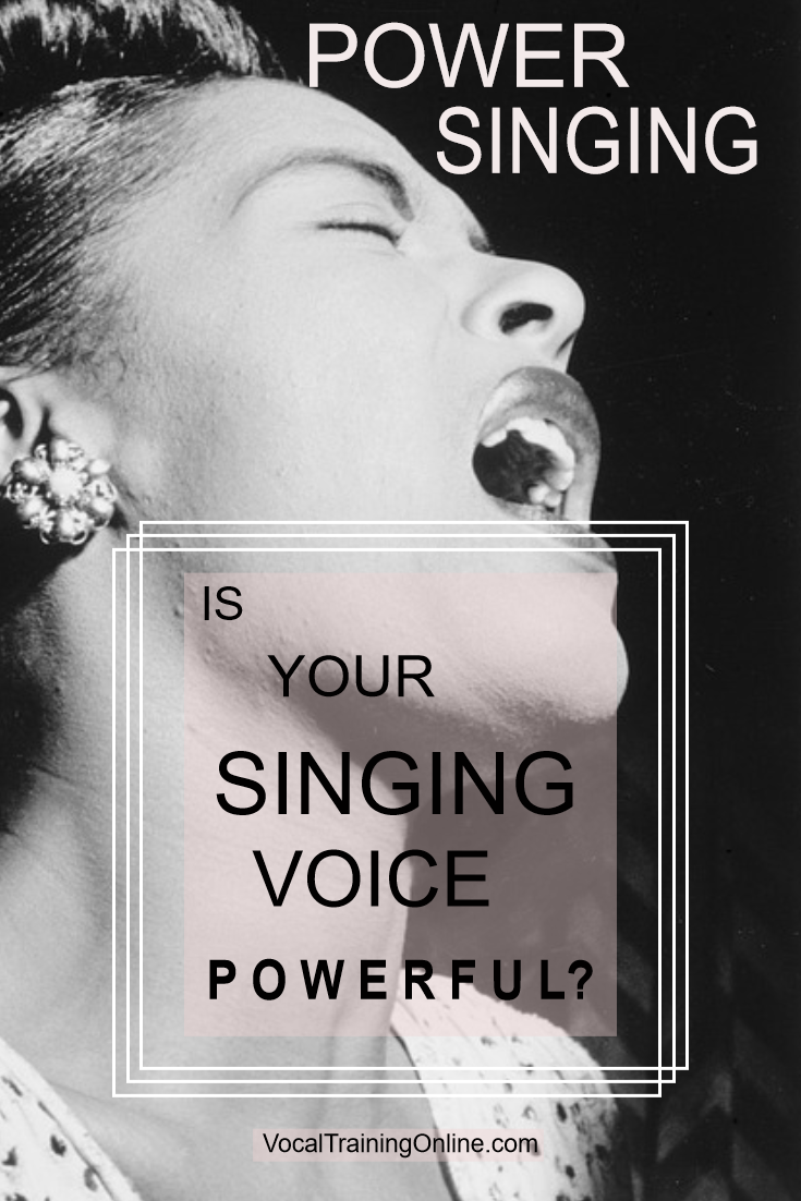 Sing with more power & people will take notice! This vocal training tutorial takes you through how to sing with more power. #powersinging #singingtips #howtosing