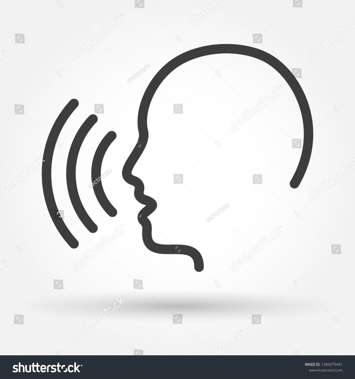 Voice Control Icon Speak Or Talk Recognition Linear Icon Speaking And Talking Command Sound Commander Or Speech Dictator Head The Voice Icon Voice Control