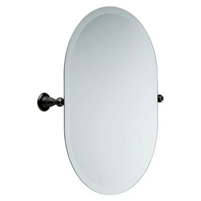 Delta Porter 26 In X 23 In Frameless Oval Bathroom Mirror With