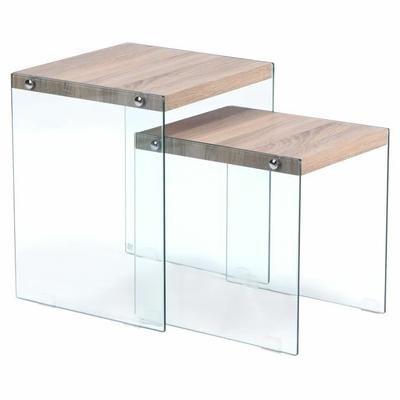 Table Basse Gigogne Verso Chêne Clair