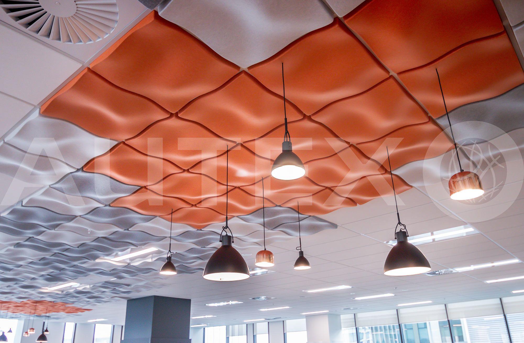 Autex Interior Acoustics Quietspace 3d Ceiling Tiles Kotahi