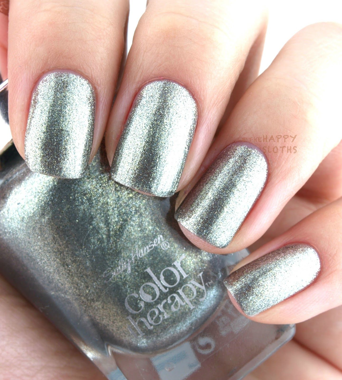 the happy sloths: sally hansen color therapy nail polish: review