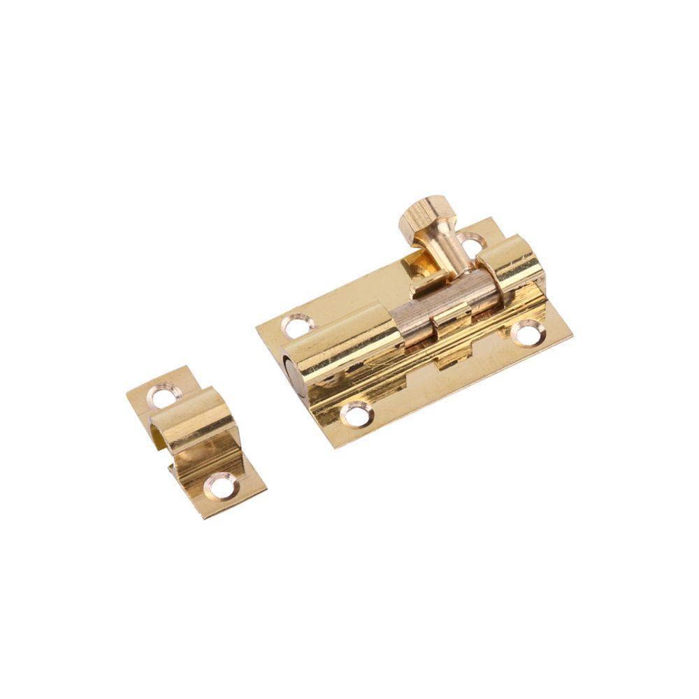 Durable Brass Door Slide Lock Catch Security Latch Sliding Lock Home