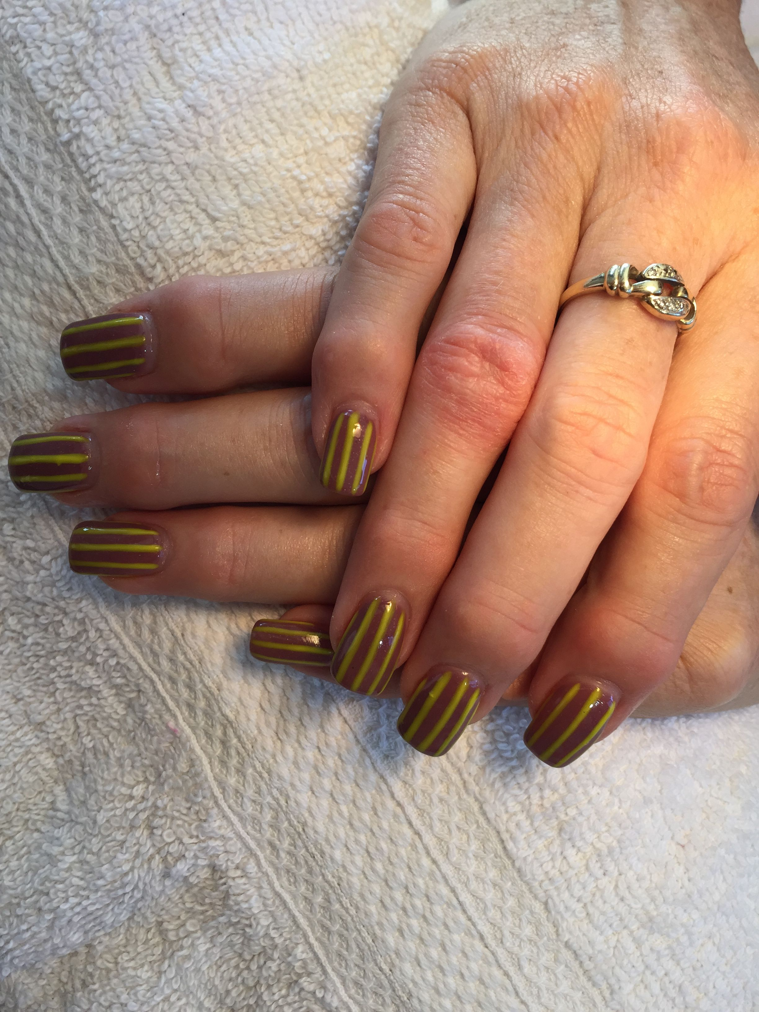 Hawthorn Hawks nails. Ready for my trip to Melbourne in 2 weeks ...