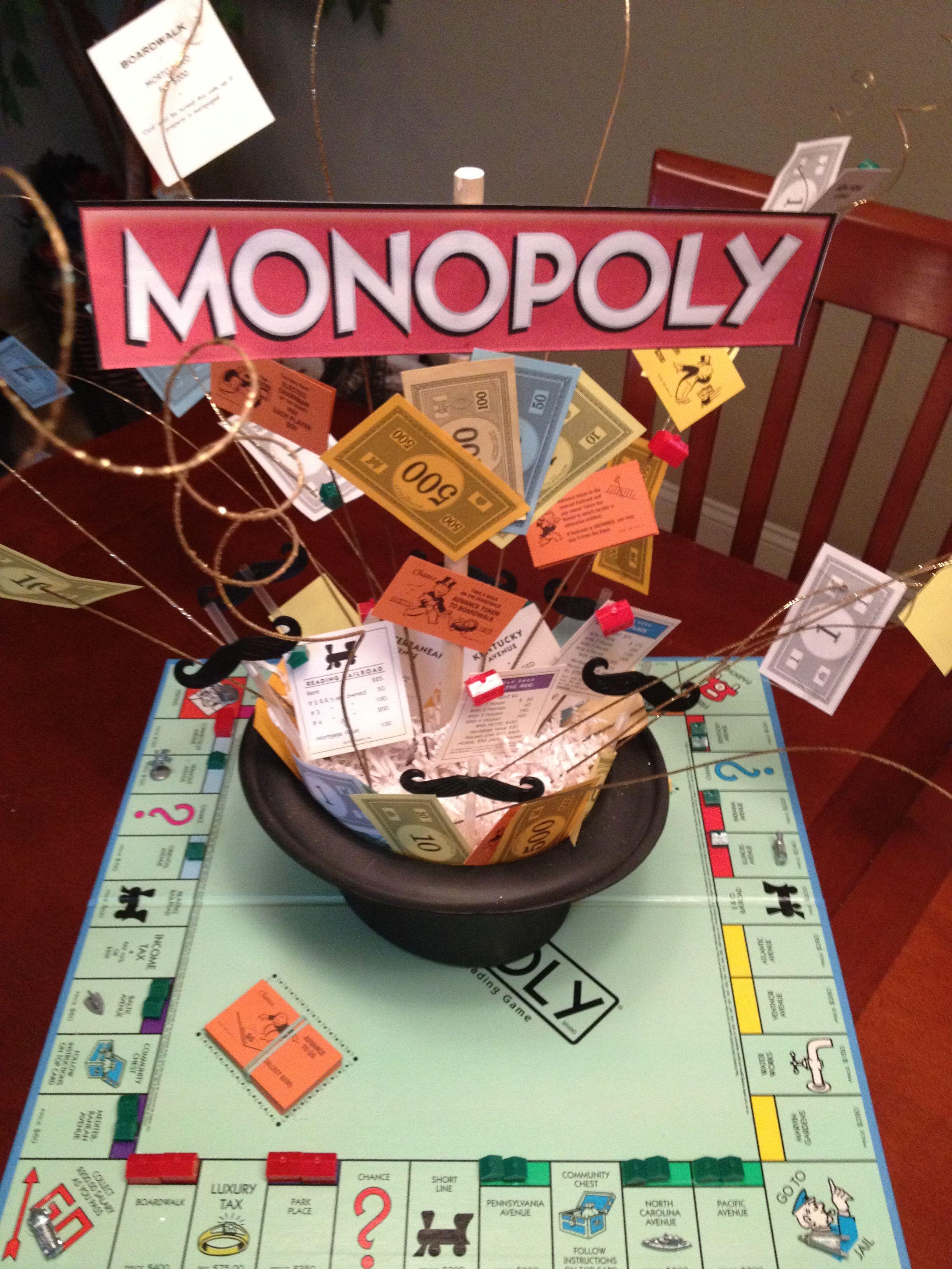 Monopoly decorations centerpieces share