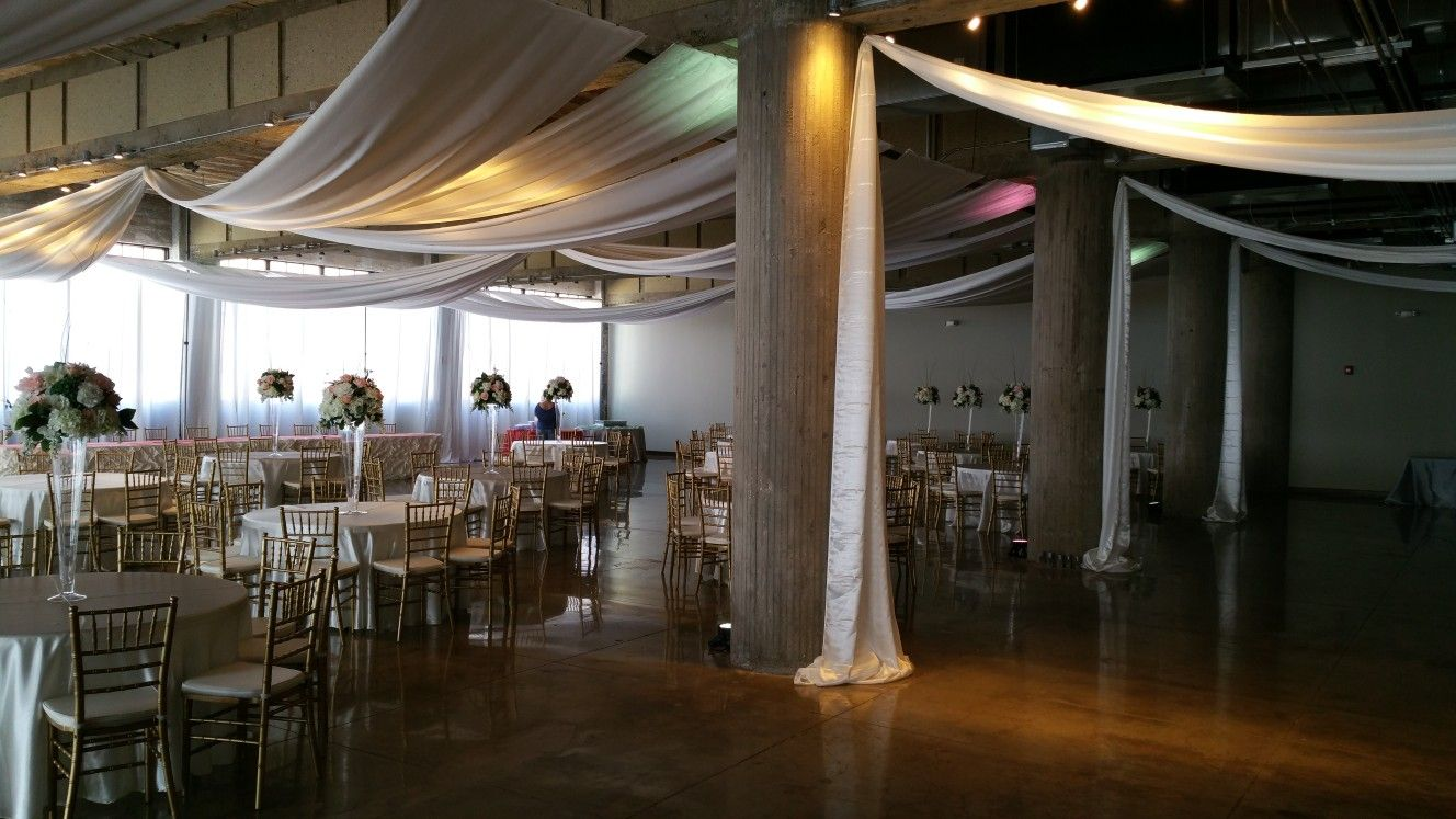 ceiling draping makes any venue look stunning