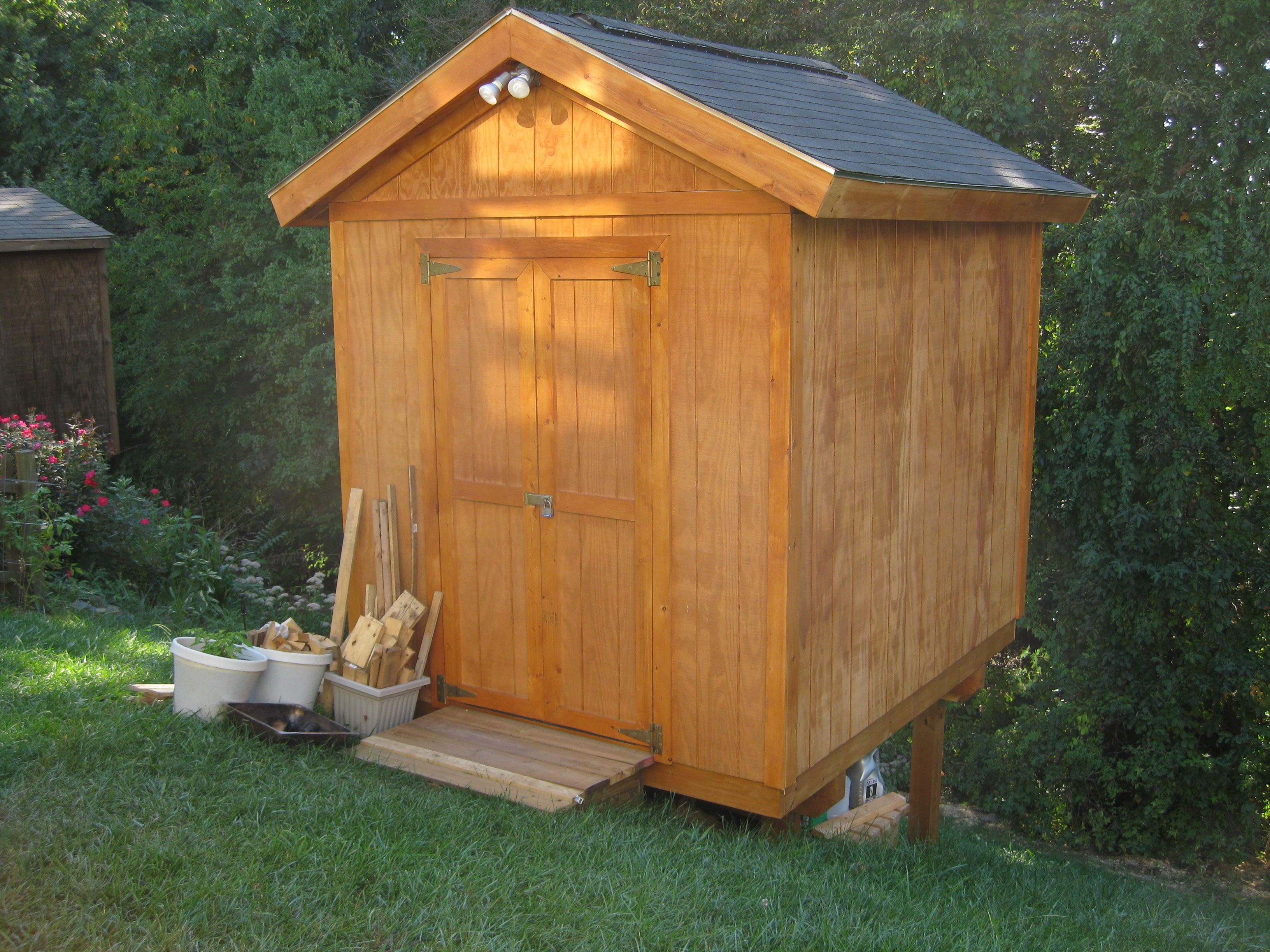 Building a shed on a hill - Build A Storage Shed On A Hill