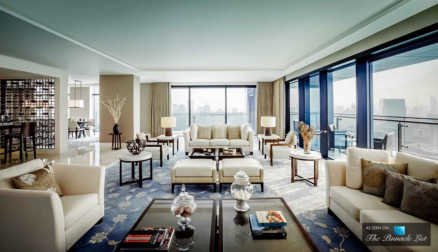 St Regis Luxury Hotel Bangkok Thailand Residence Living Room