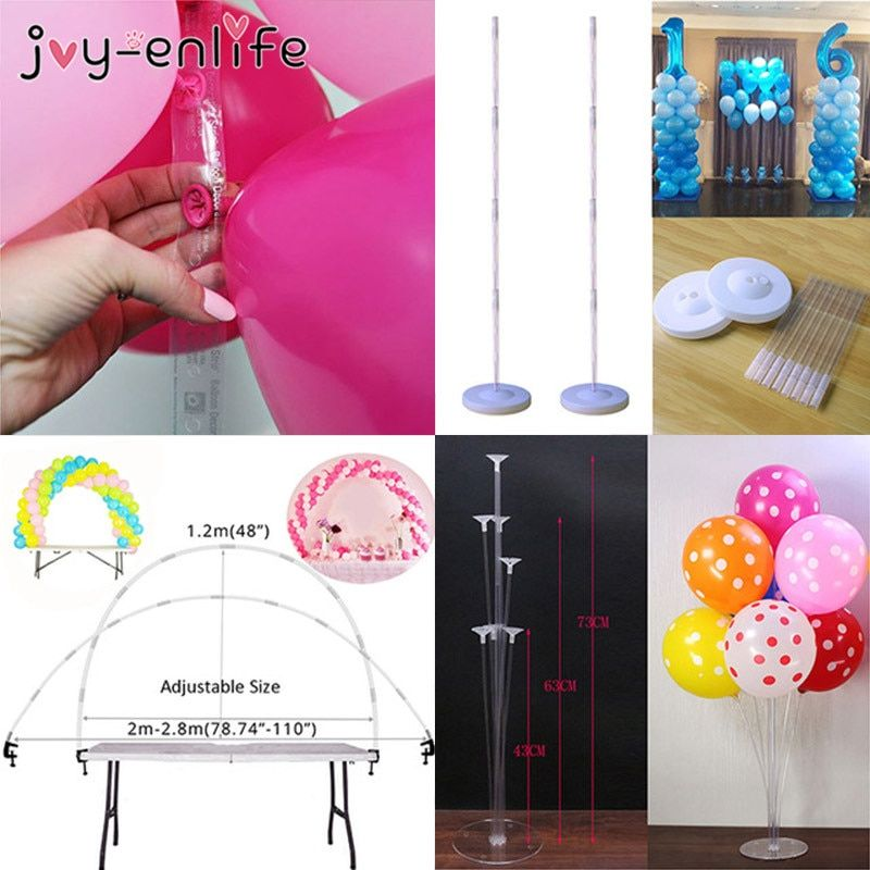 3 Pack Unicorn Foil Balloons With Round Base Balloon Stick Stand Any Party and Festival Balloon Accessories Supplies
