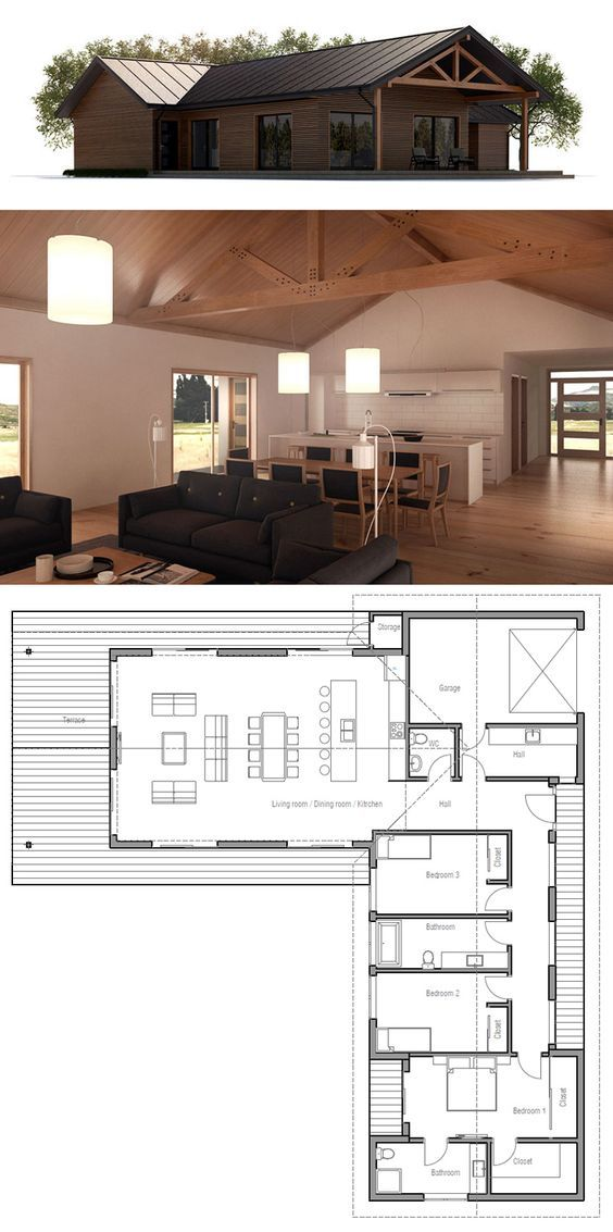 Planta de Casa Houseplans Pinterest House, Smallest house and - plan de maison simple
